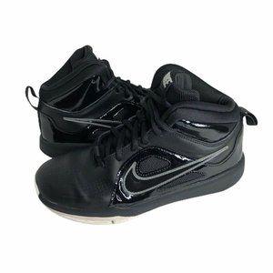 Nike Team Basketball Shoes Black Sneakers Sz 4.5Y